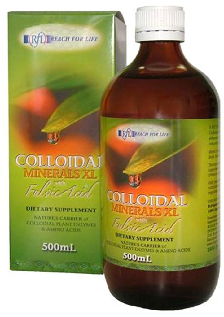 Colloidal Mineral Supplements with the Fulvic Acids Molecule